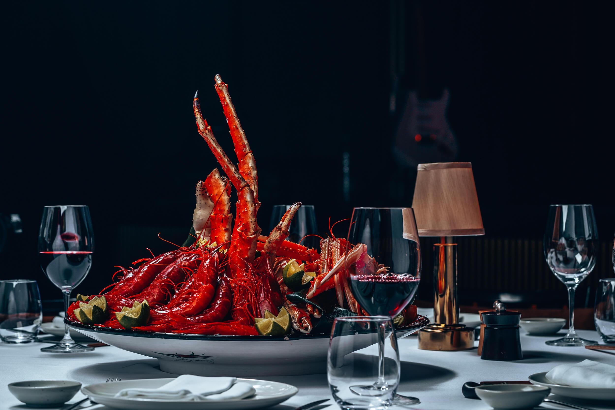 Seafood at Billionaire Dubai