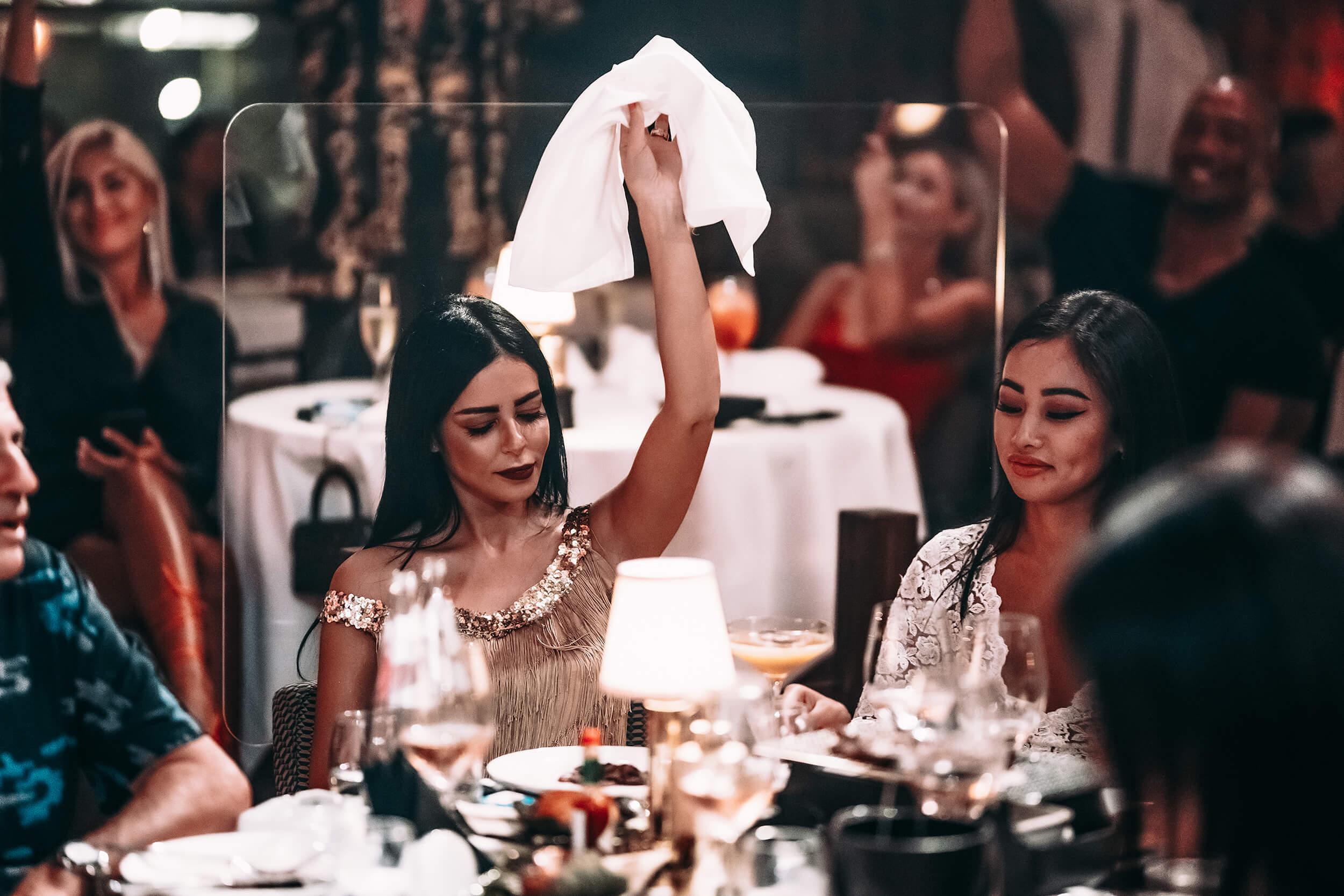 Women at table Billionaire Dubai