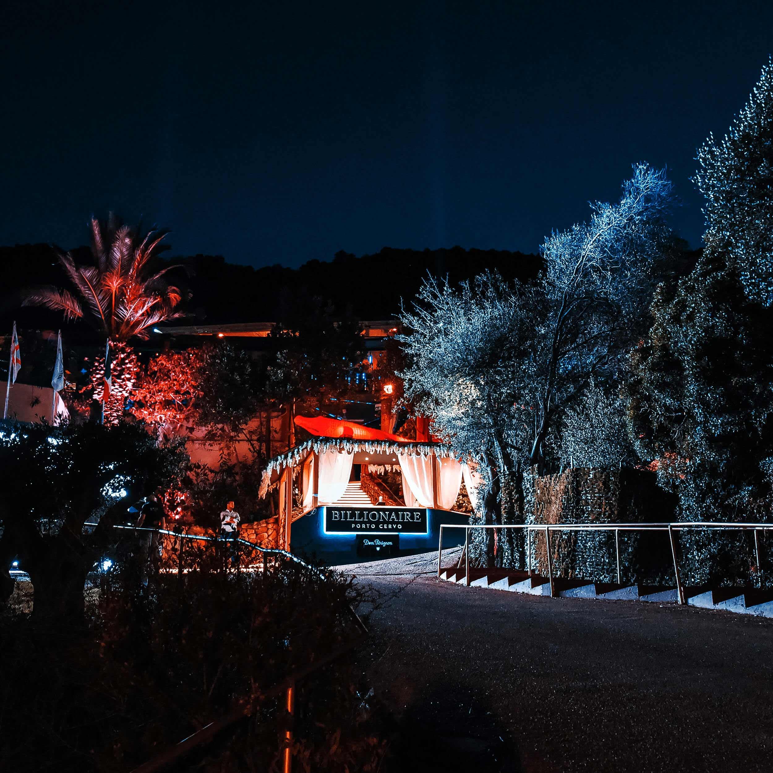 Entrance to Billionaire Porto Cervo